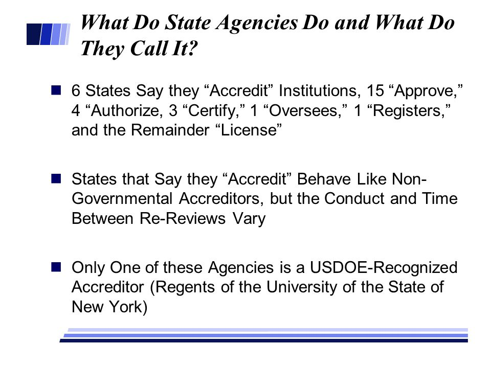 What Do State Agencies Do and What Do They Call It.