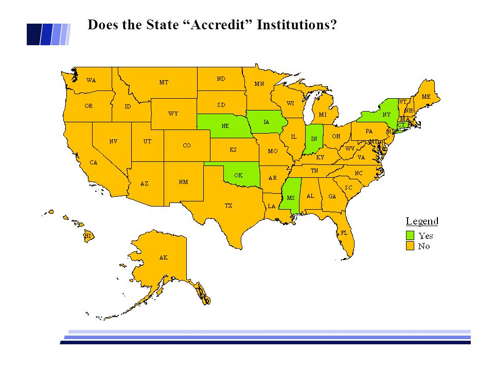 Does the State Accredit Institutions?