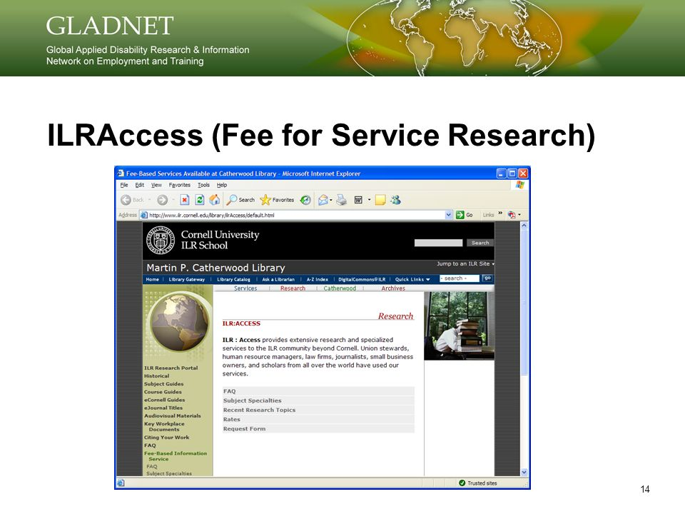 14 ILRAccess (Fee for Service Research)