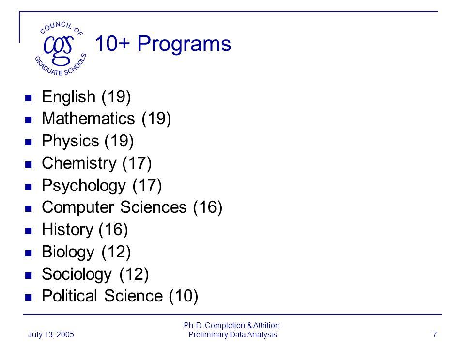 July 13, 2005 Ph.D.