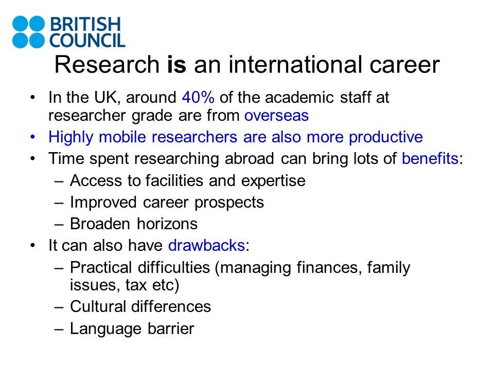 What does British Council do to help.