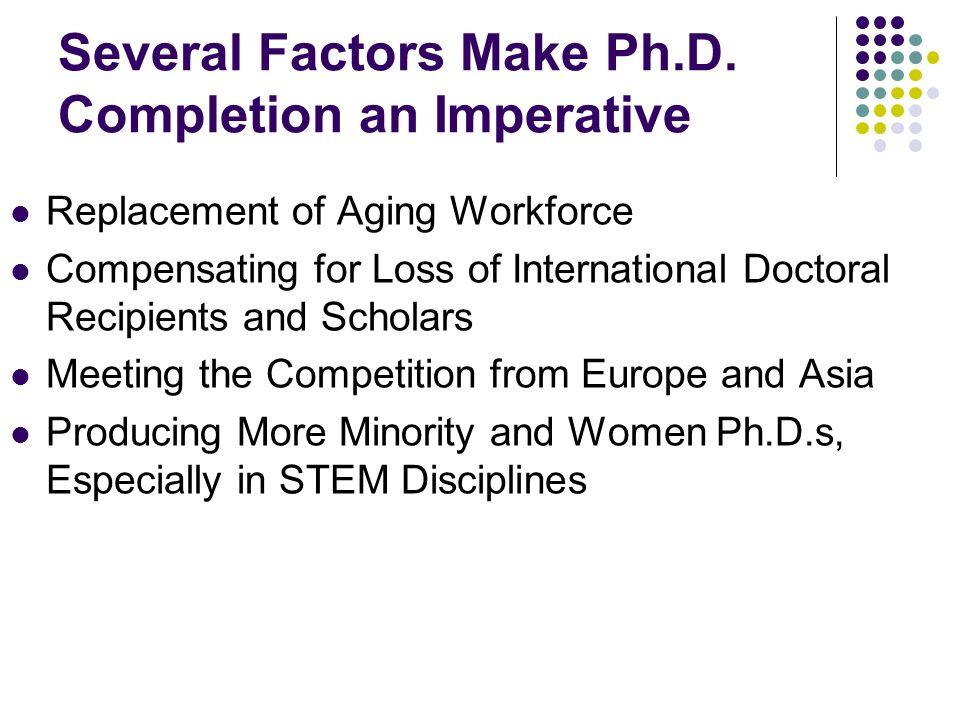 Several Factors Make Ph.D.