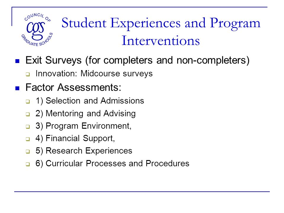 Questions to Consider Who has institutional memory in the department/program.