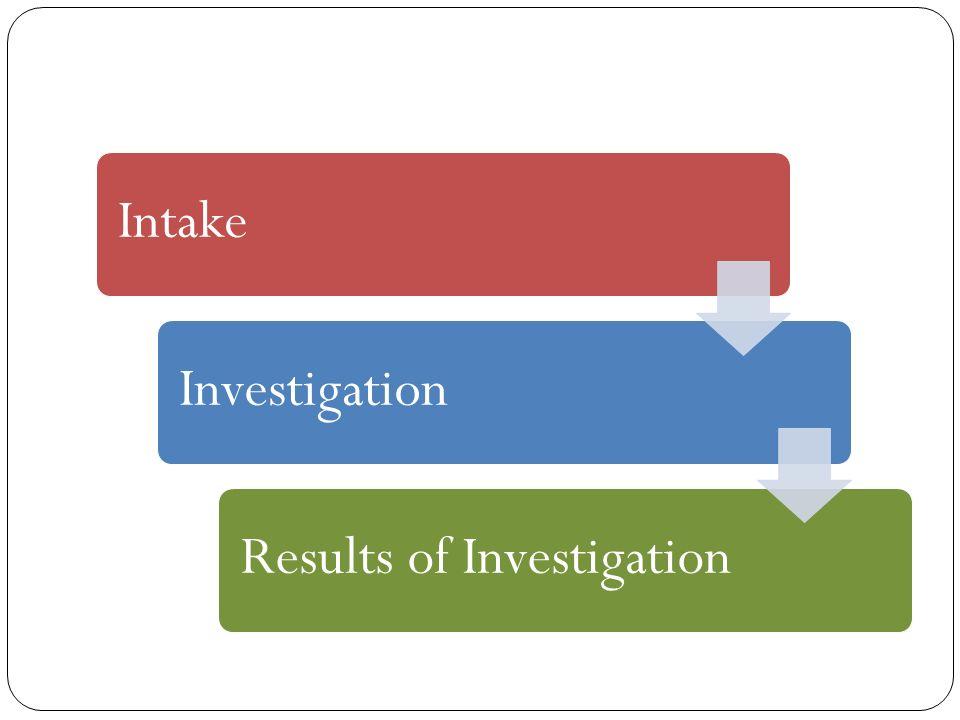 IntakeInvestigationResults of Investigation