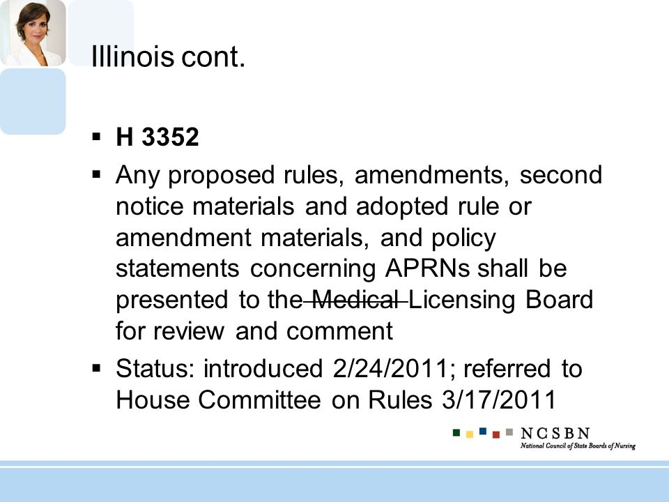 Illinois cont. H 3352 Any proposed rules, amendments, second notice materials and adopted rule or amendment materials, and policy statements concernin