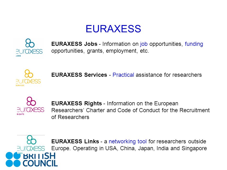 EURAXESS EURAXESS Jobs - Information on job opportunities, funding opportunities, grants, employment, etc.