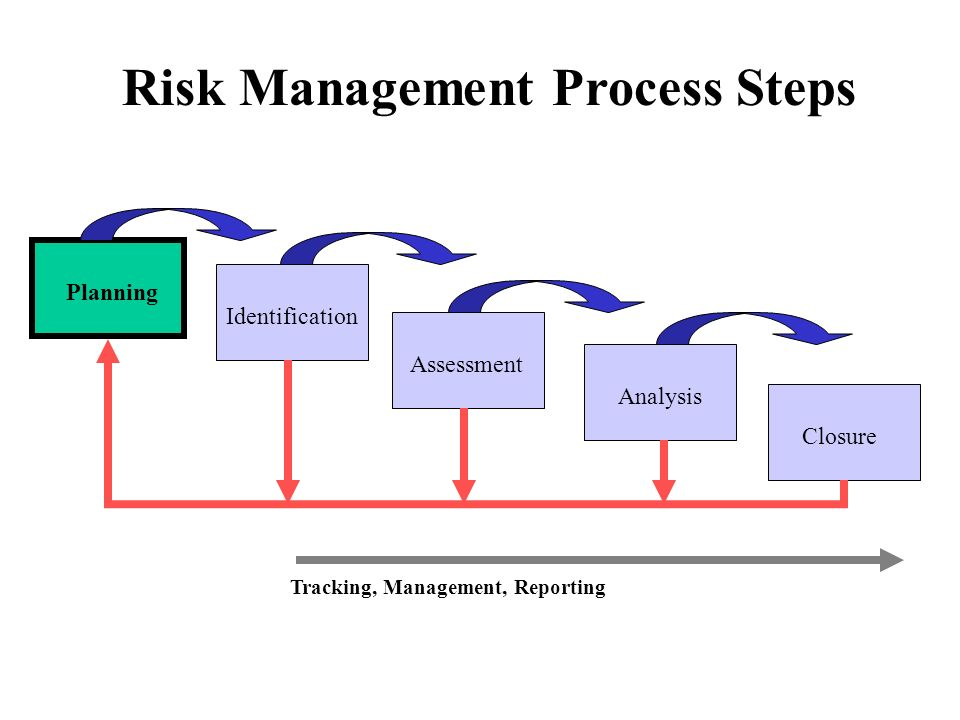 Planning Identification Assessment Analysis Closure Risk Management Process Steps Tracking, Management, Reporting