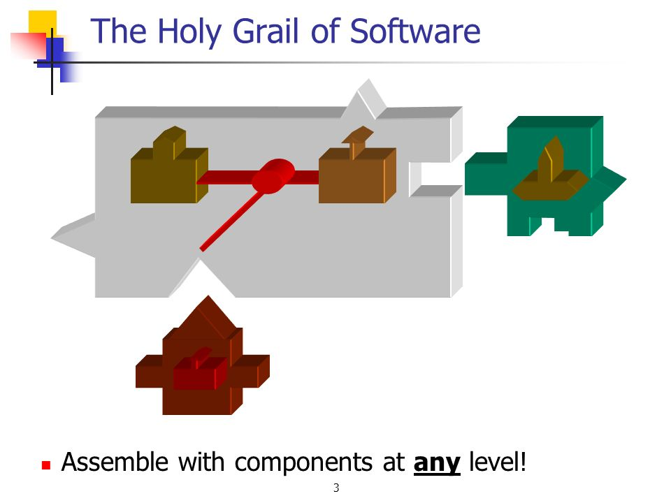 3 The Holy Grail of Software Assemble with components at any level!