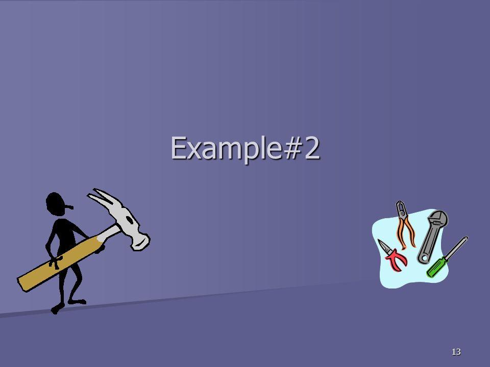 13 Example#2
