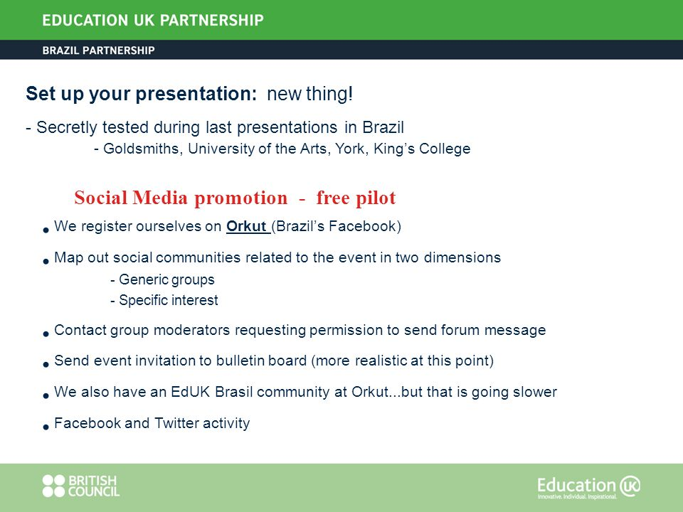 Set up your presentation: new thing.