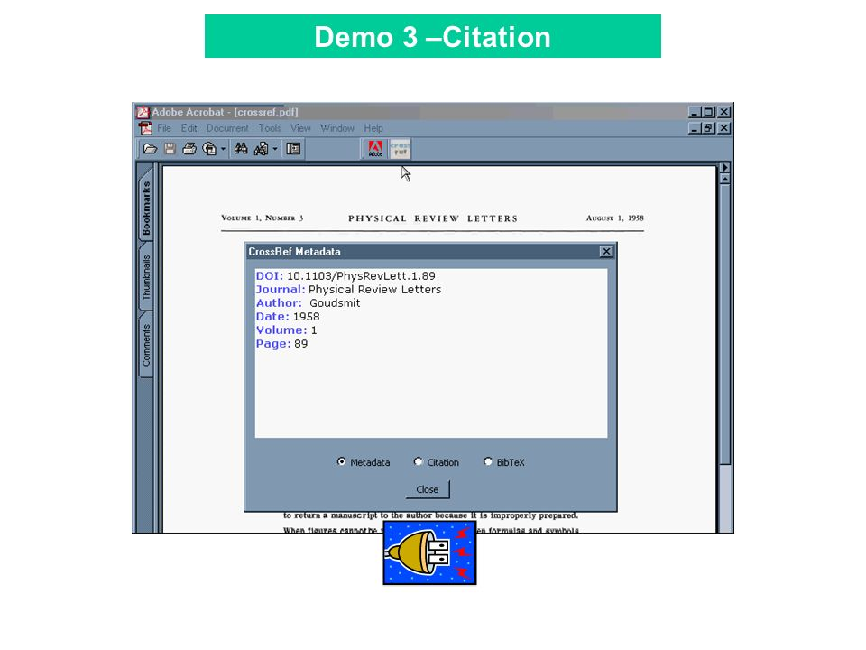 Tool Bar Demo 3 –Citation