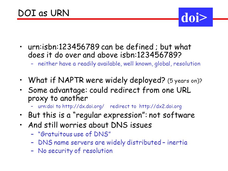 urn:isbn:123456789 can be defined ; but what does it do over and above isbn:123456789? –neither have a readily available, well known, global, resoluti