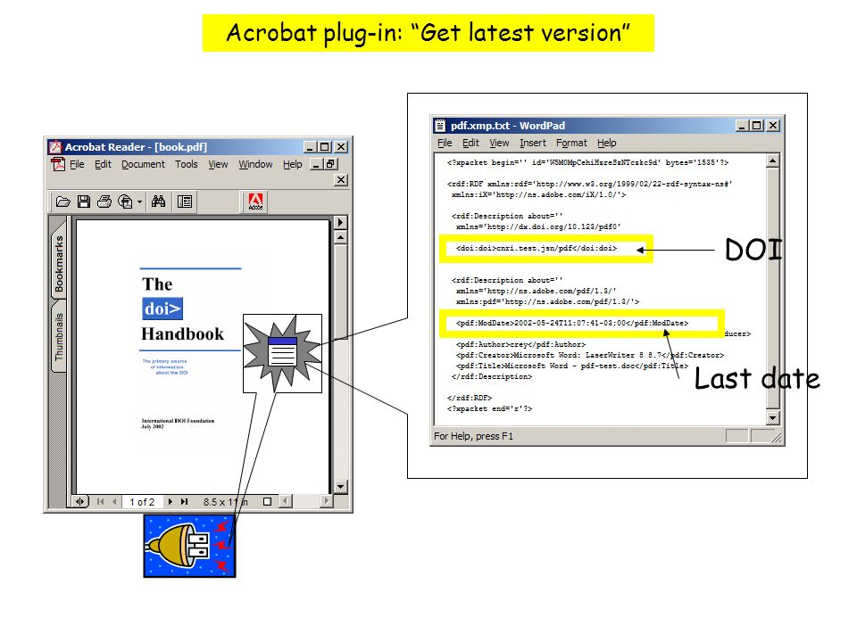 Tool Bar Acrobat plug-in: Get latest version DOI Last date