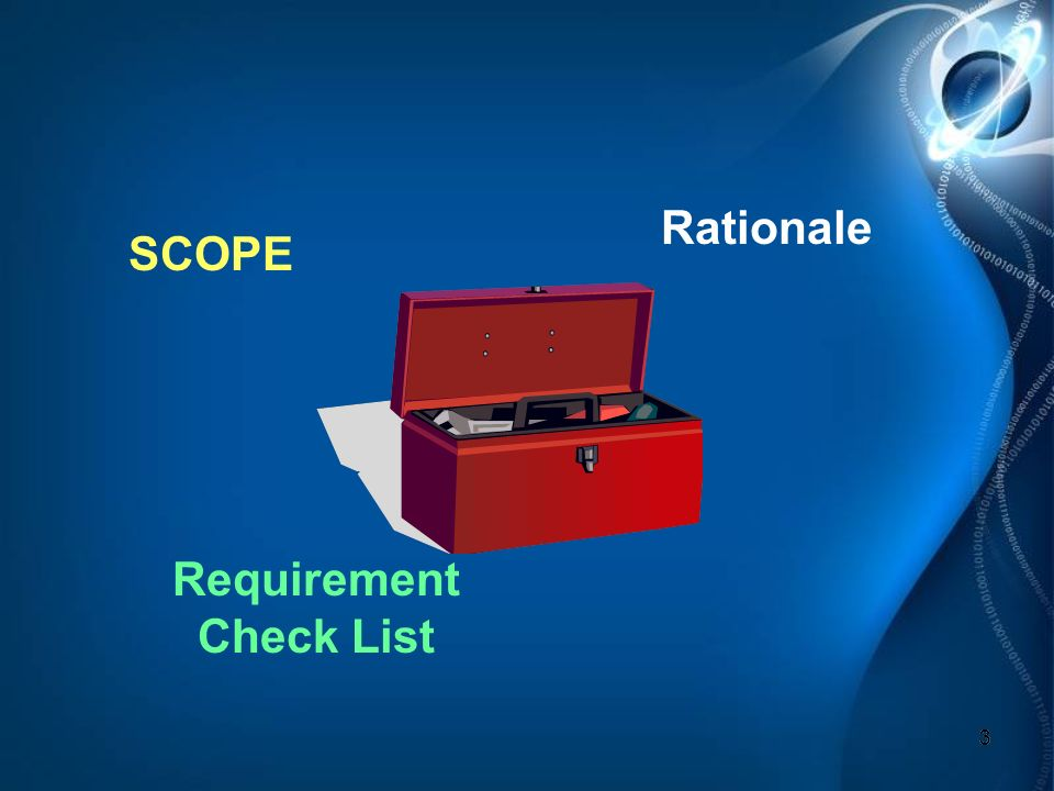 3 33 SCOPE Requirement Check List Rationale