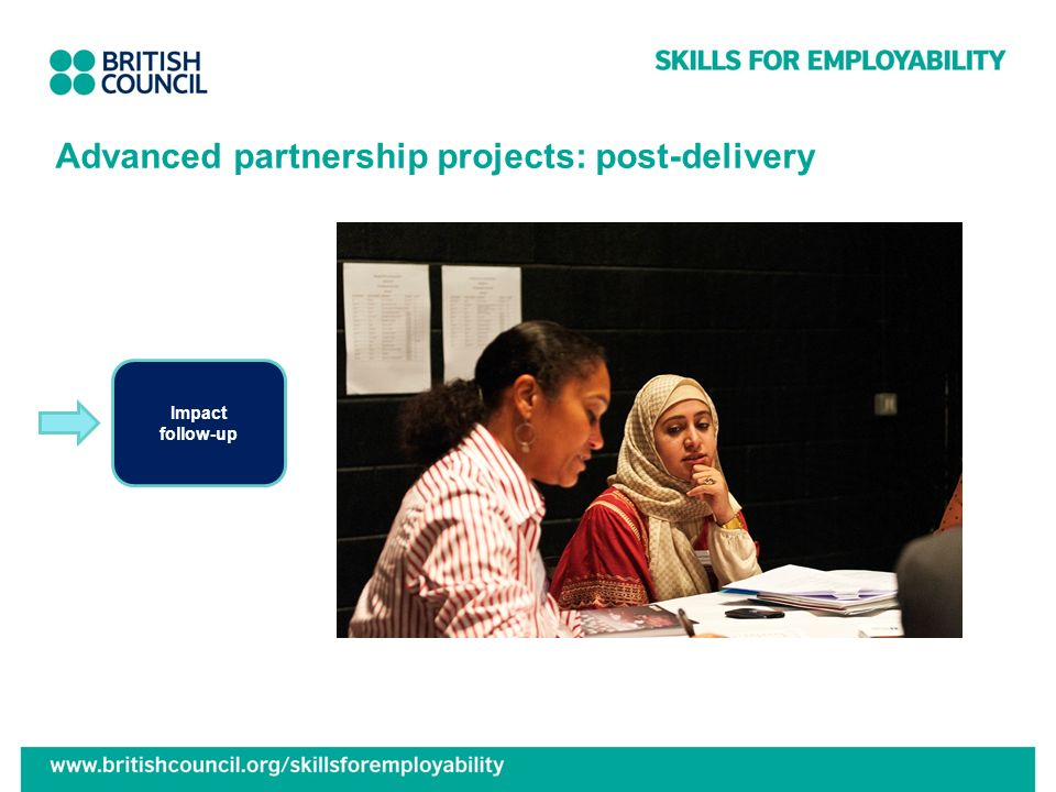 Advanced partnership projects: post-delivery Impact follow-up