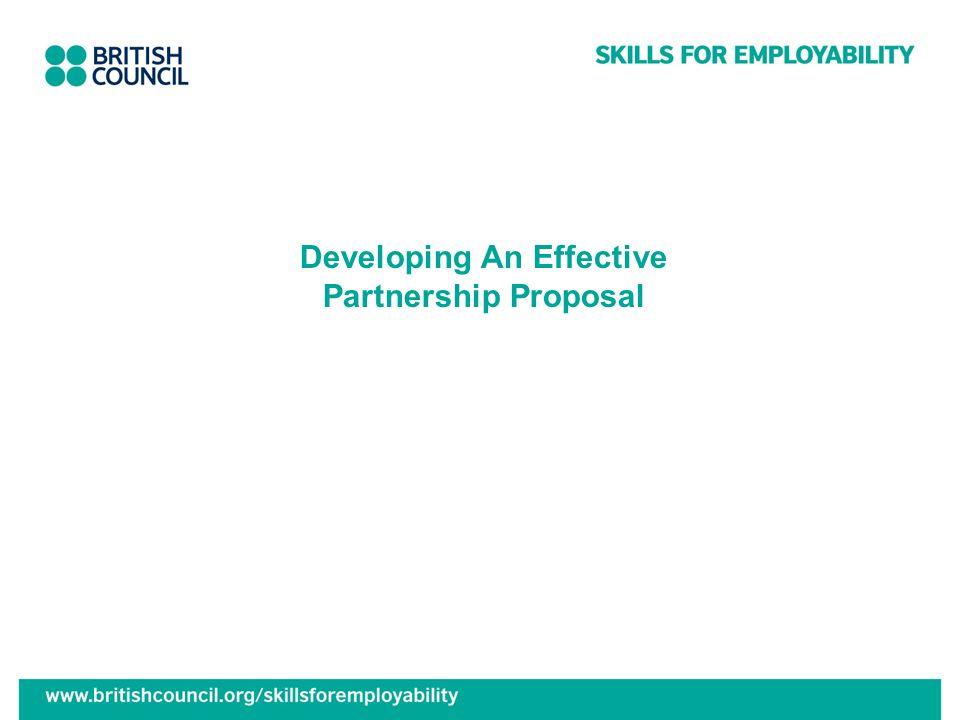 Developing An Effective Partnership Proposal