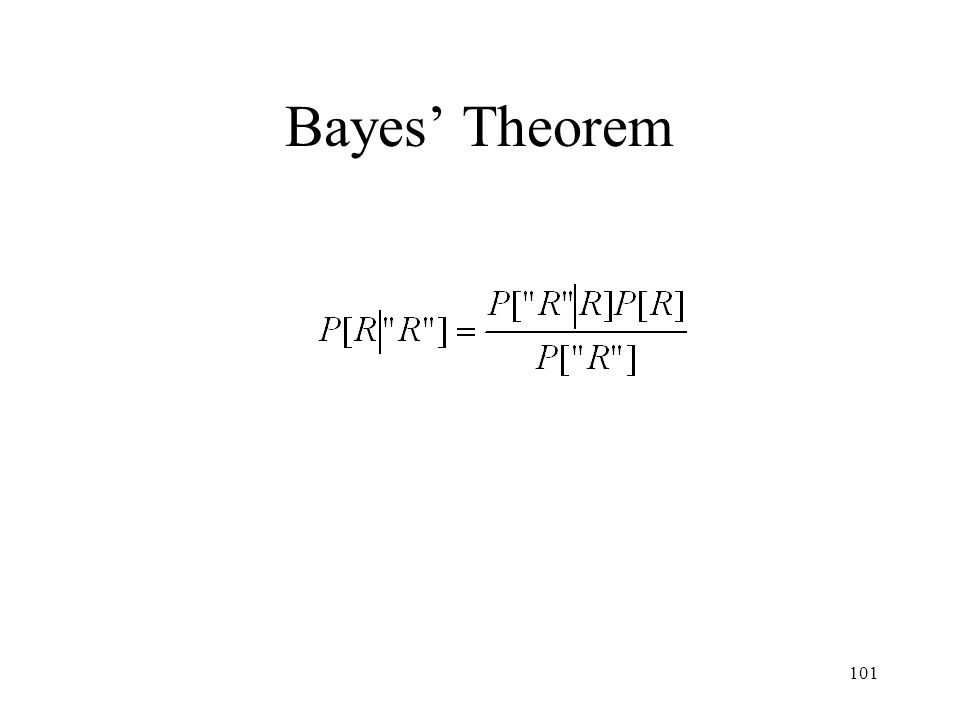 101 Bayes Theorem