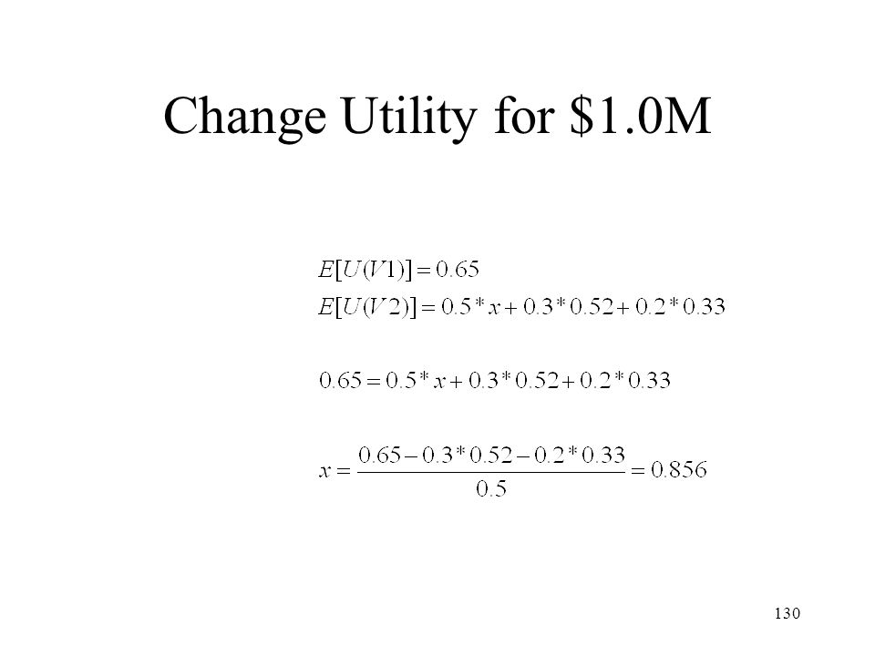 130 Change Utility for $1.0M
