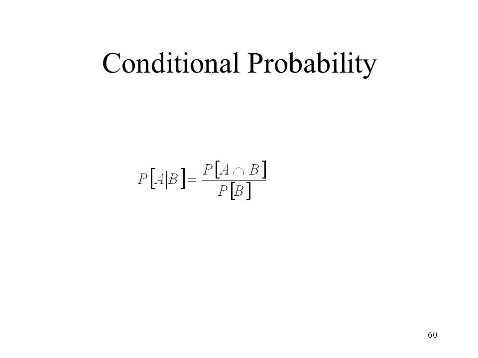 60 Conditional Probability