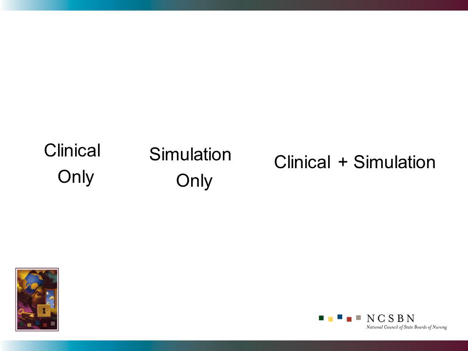 Clinical Only Simulation Only Clinical + Simulation
