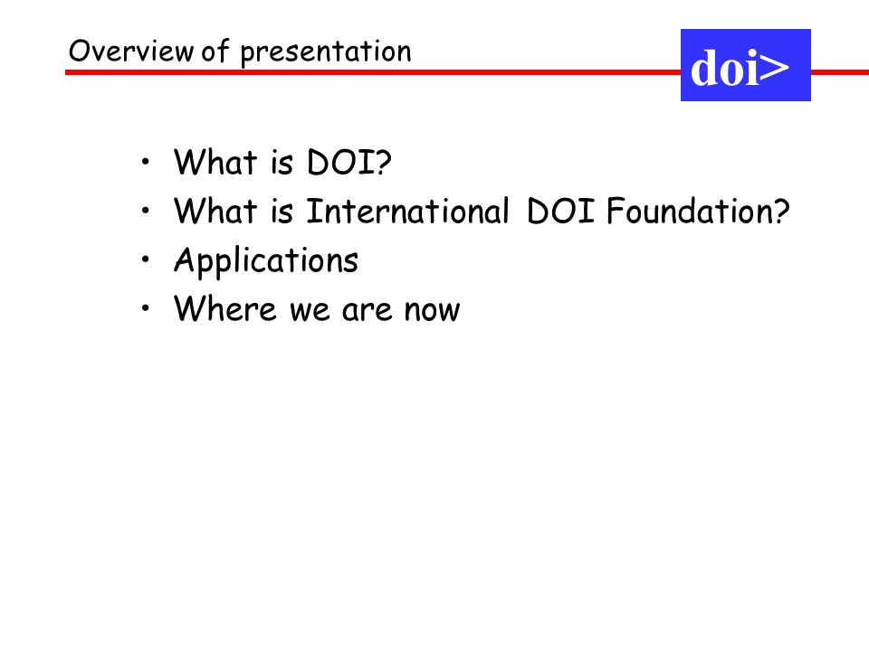 What is DOI. What is International DOI Foundation.