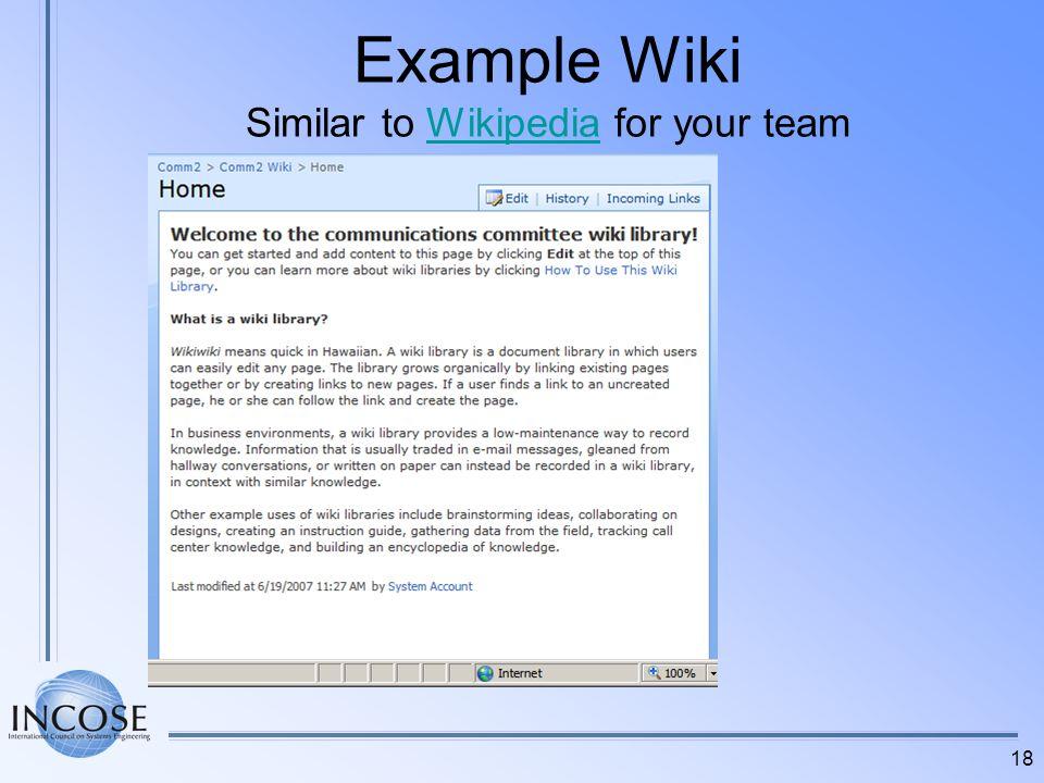 18 Example Wiki Similar to Wikipedia for your teamWikipedia