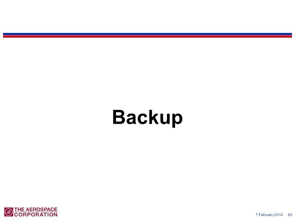 7 February 2014 60 Backup