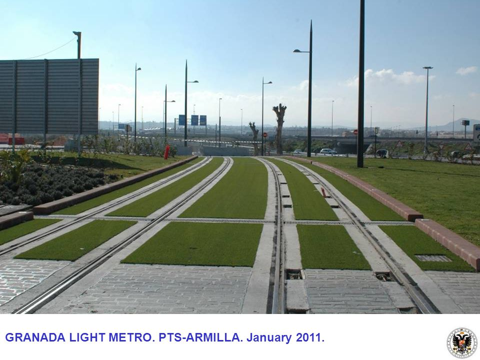 GRANADA LIGHT METRO. PTS-ARMILLA. January 2011.