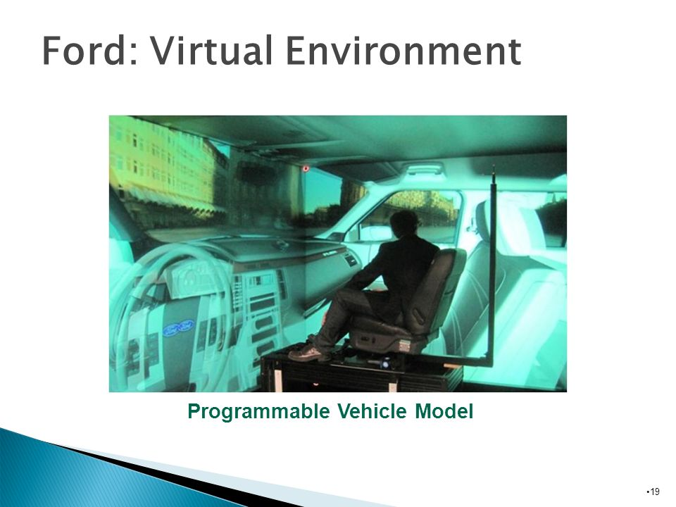 19 Ford: Virtual Environment Programmable Vehicle Model