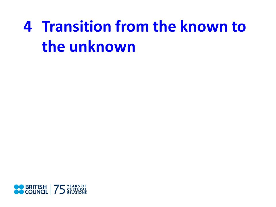 4Transition from the known to the unknown