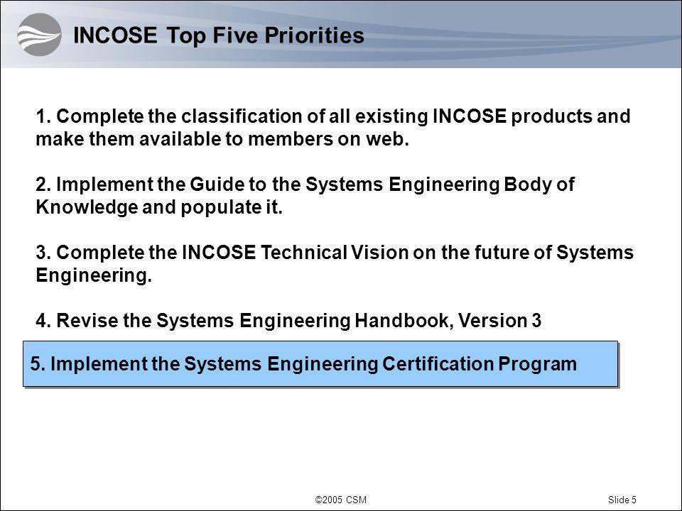 ©2005 CSMSlide 6 Application Development 1.Verifiable Education 2.