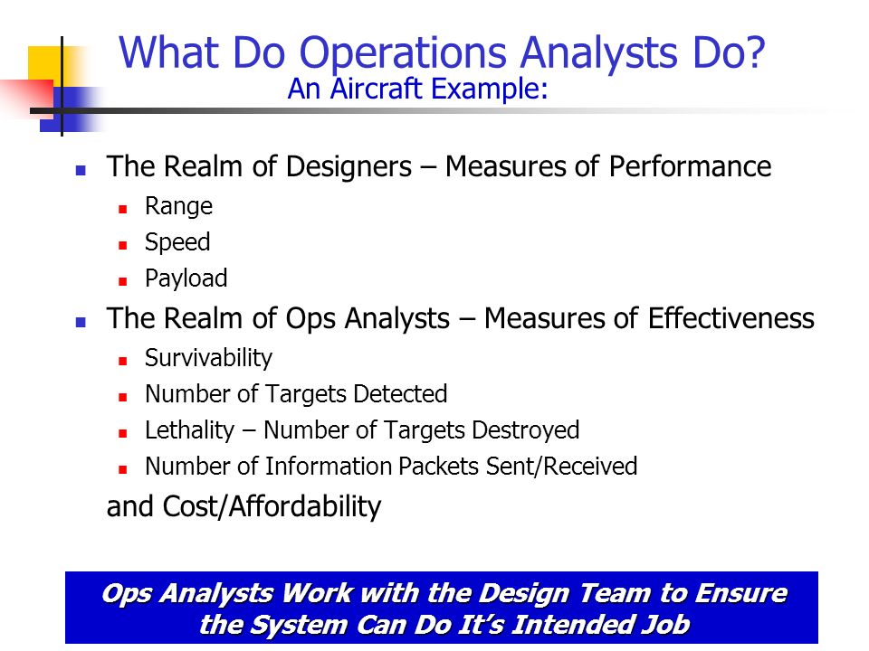 What Do Operations Analysts Do.