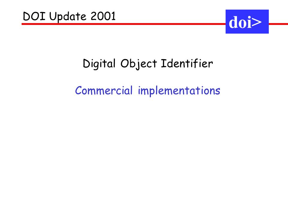 Standards for identification (DOI) Standards for linking (CrossRef) Standards for product information (ONIX) Standards for subsidiary rights (FBF) Standards for E-Books (AAP/Andersen) Last year: Trading in the digital environment