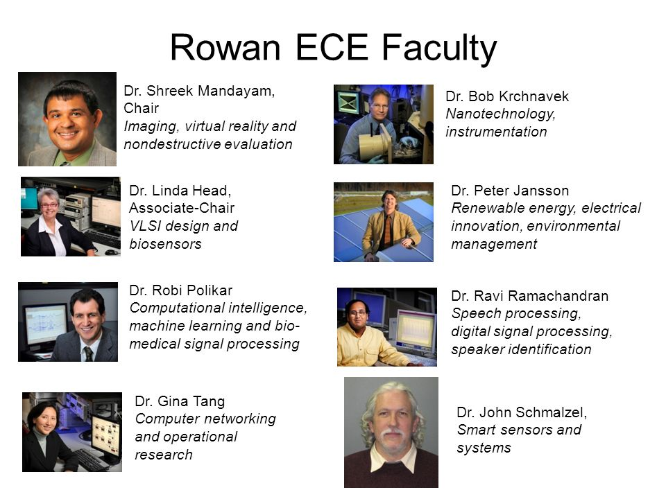 Rowan ECE Faculty Dr.