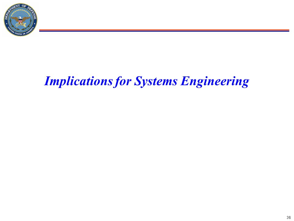 36 Implications for Systems Engineering
