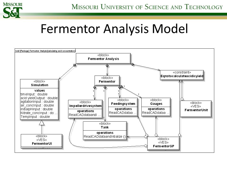 Fermentor Analysis Model
