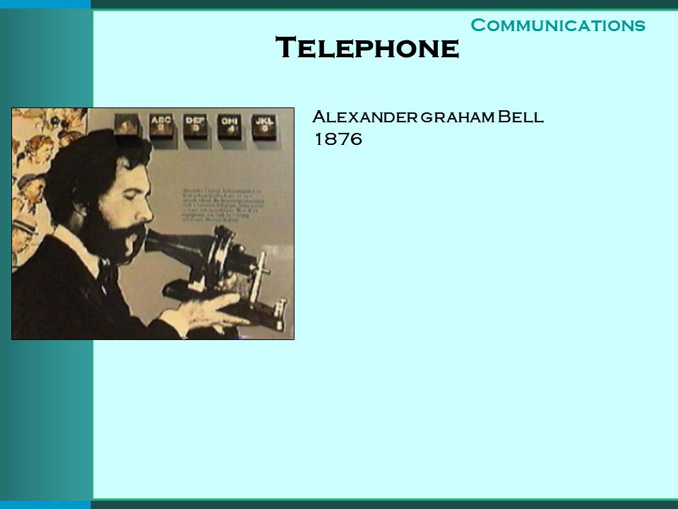 Telephone Alexander graham Bell 1876 Communications