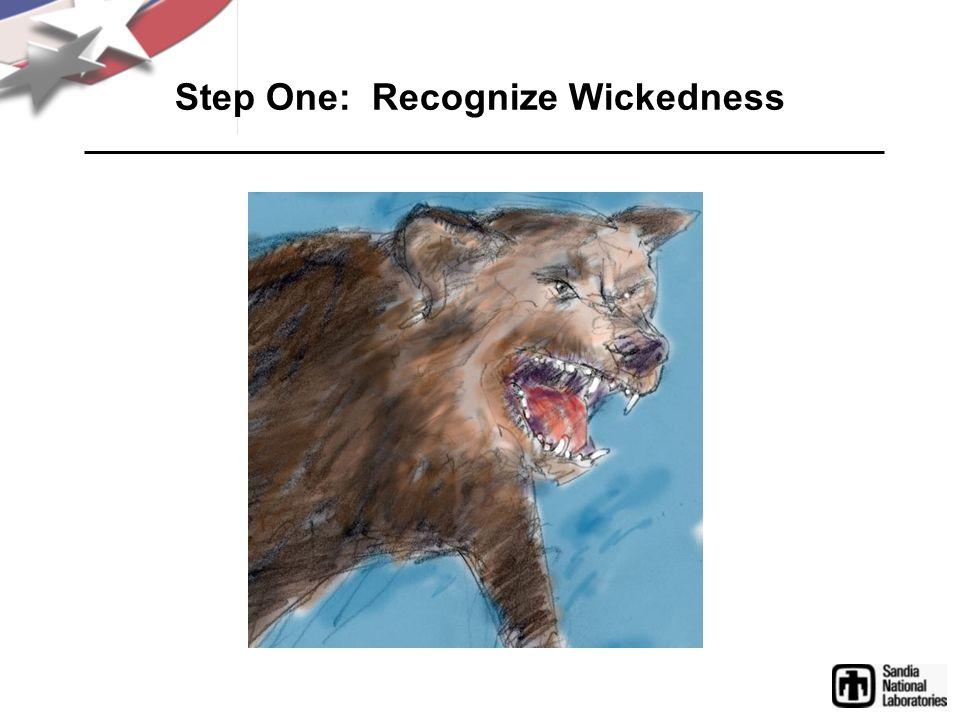 Step One: Recognize Wickedness
