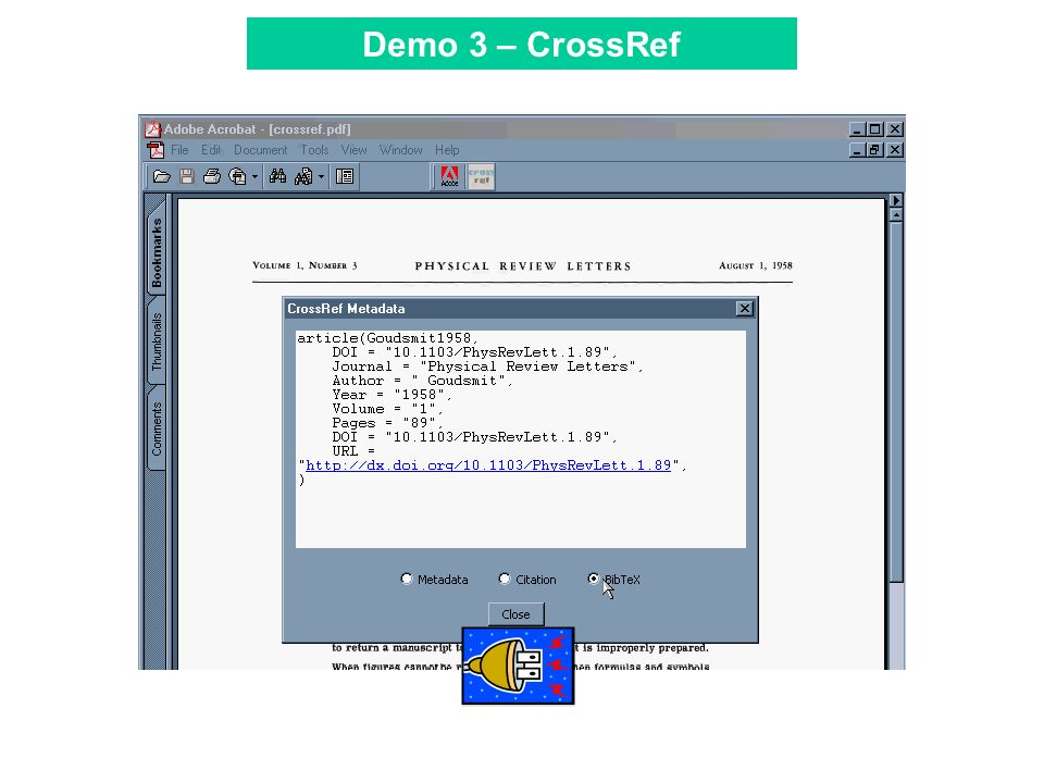 Tool Bar Demo 3 – CrossRef