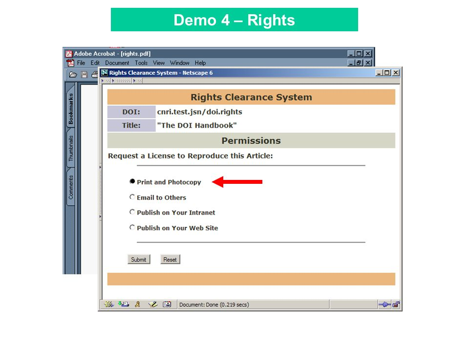 Tool Bar Demo 4 – Rights