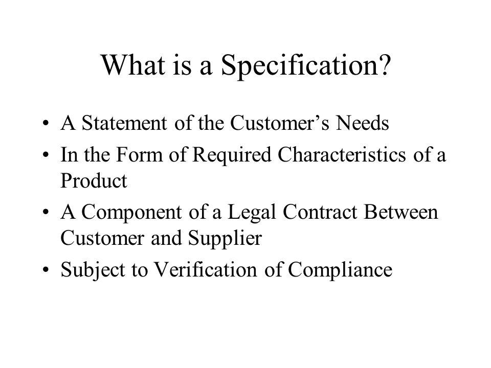 Compliance Verification Operational Definitions Compliance Verification Criteria –Source –Where Documented Integration Into Program