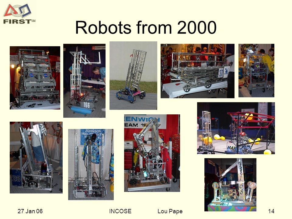 1427 Jan 06INCOSE Lou Pape Robots from 2000