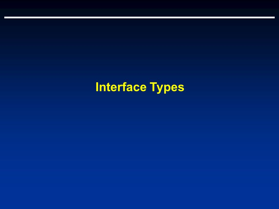 Interface Types