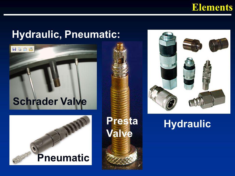 Hydraulic, Pneumatic: Elements Schrader Valve Presta Valve Pneumatic Hydraulic