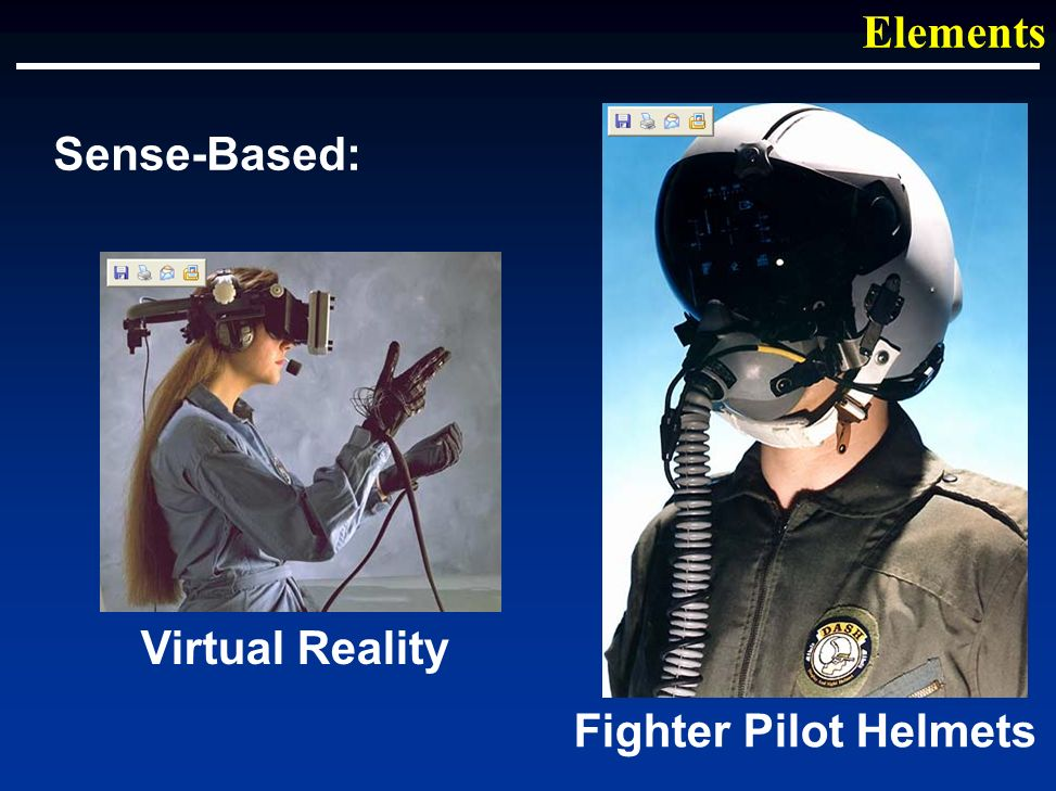 Sense-Based: Elements Virtual Reality Fighter Pilot Helmets
