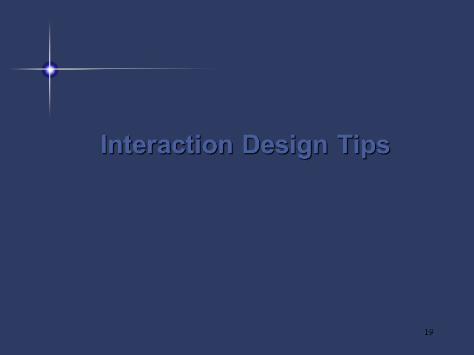 19 Interaction Design Tips