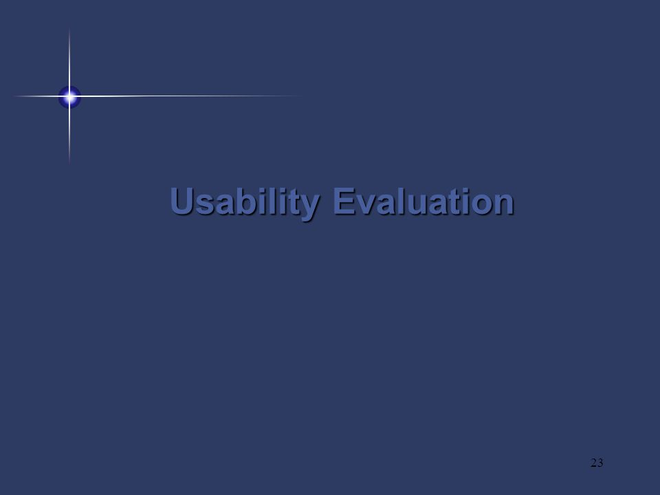 23 Usability Evaluation