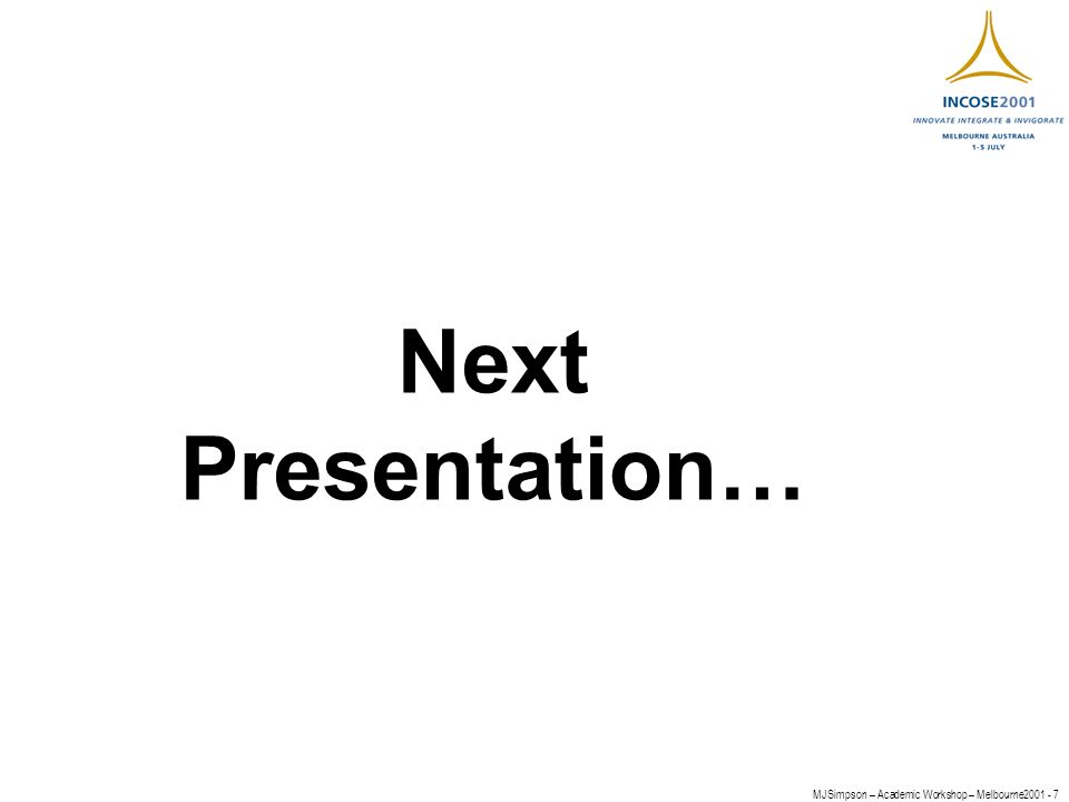 MJSimpson – Academic Workshop – Melbourne Next Presentation…