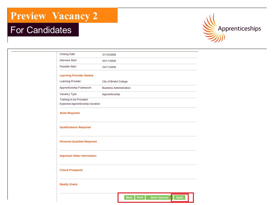 15 For Candidates Preview Vacancy 2