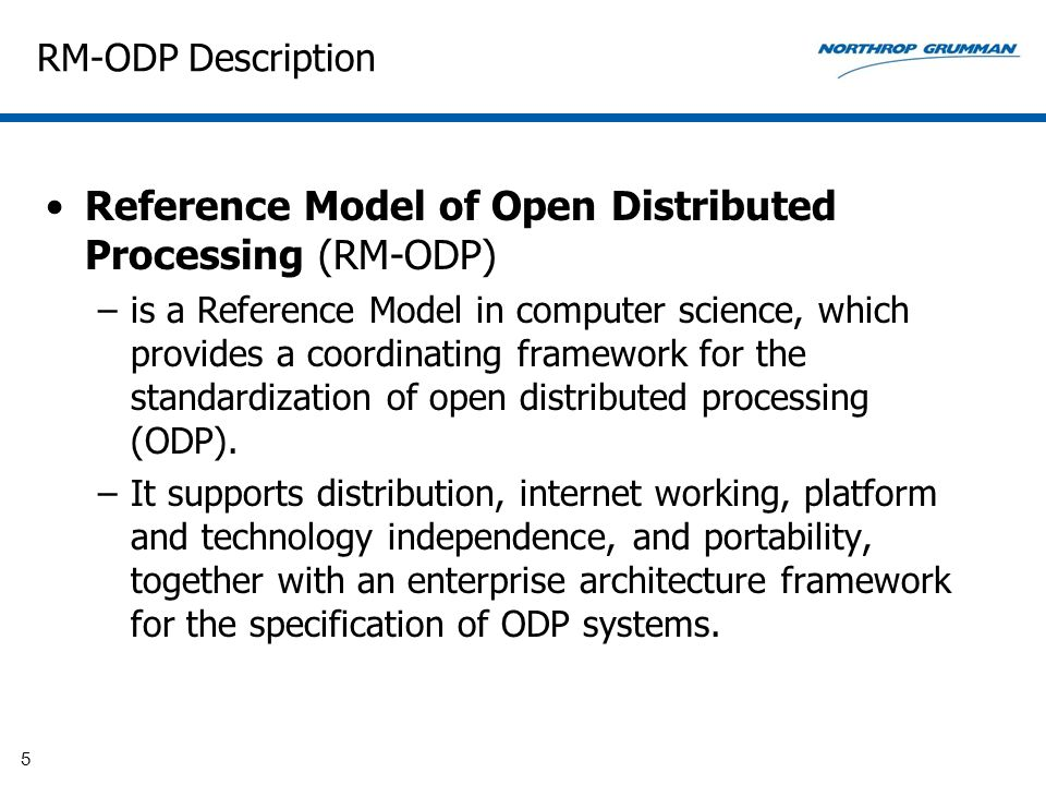 RM-ODP Standards RM-ODP, also named ITU-T Rec.